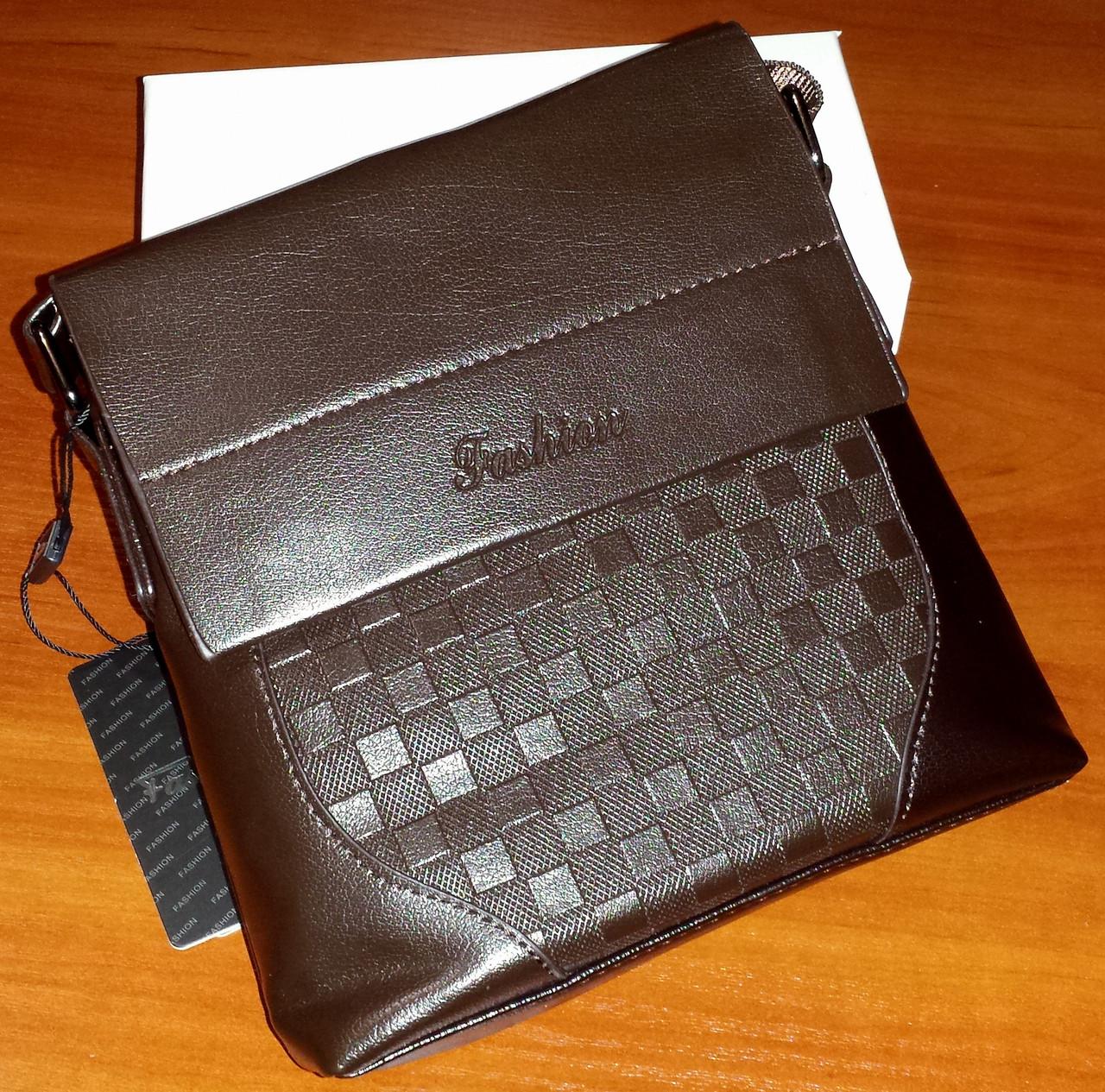 4e6e93ab8839 Мужская фирменная сумка Fashion 106-1 Brown (20,5x17x6см). 230 грн. Купить