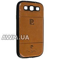 Чехол накладка Pierre Cardin для Samsung Galaxy S3 (i9300) коричневый