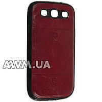Чехол накладка Pierre Cardin для Samsung Galaxy S3 (i9300) красный