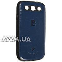 Чехол накладка Pierre Cardin для Samsung Galaxy S3 (i9300) синий
