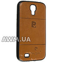 Чехол накладка Pierre Cardin для Samsung Galaxy S4 (i9500) коричневый