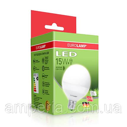 EUROLAMP LED Лампа ЕКО G95 15W E27 4000K (LED-G95-15274(D)), фото 2