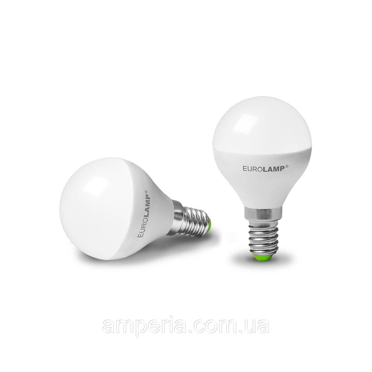 EUROLAMP LED Лампа ЕКО G45 5W E14 3000K (LED-G45-05143(D))