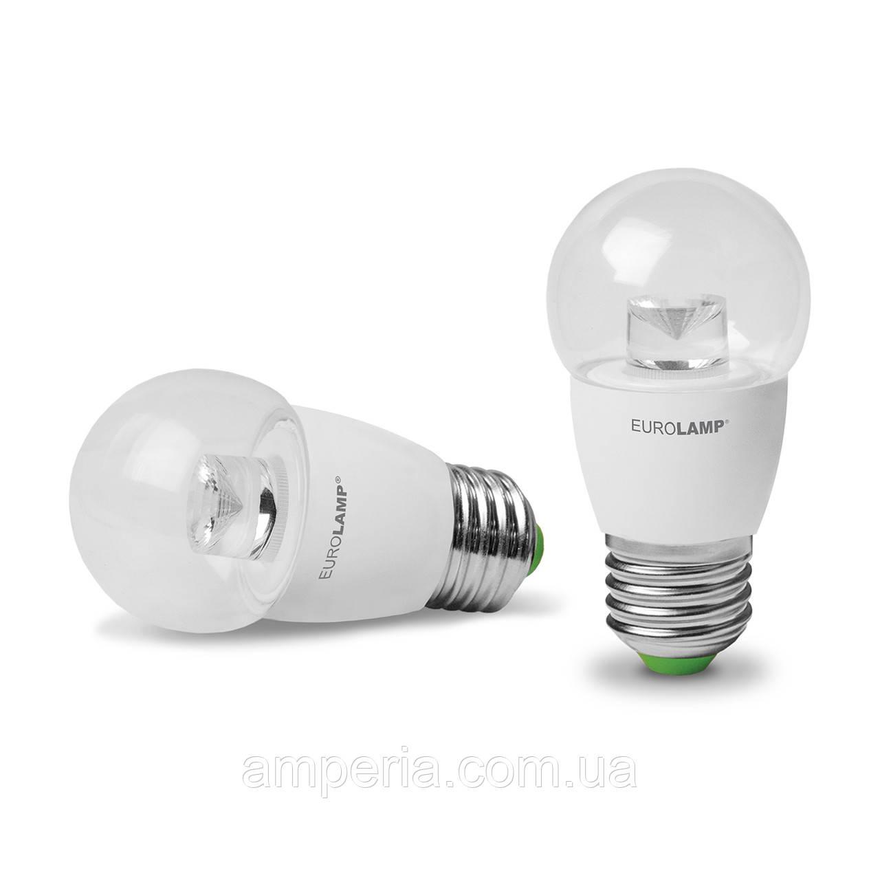 EUROLAMP LED Лампа ЕКО G45 5W E27 4000K(прозрачная) (LED-G45-05274(D)clear)