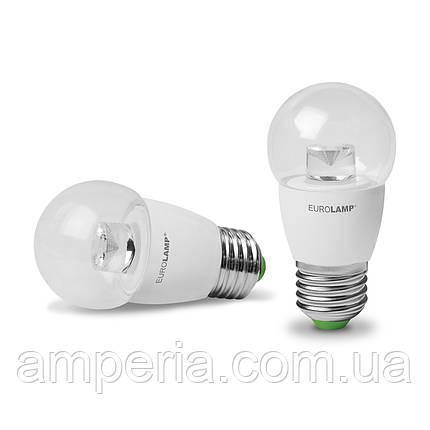 EUROLAMP LED Лампа ЕКО G45 5W E27 4000K(прозрачная) (LED-G45-05274(D)clear), фото 2