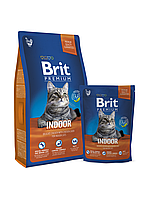 Корм для котов Brit Premium Cat Indoor 300 г (для кошек, живущих в помещении)