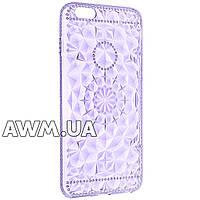 Чехол накладка силикон прозрачная для Apple iPhone 6 Plus/6S Plus фиолетовый