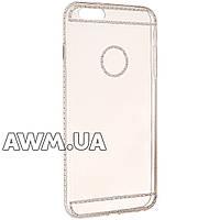 Чехол накладка силикон прозрачная для Apple iPhone 6 Plus/6S Plus розовый