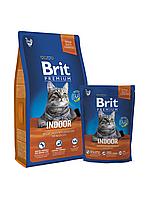 Корм для котов Brit Premium Cat Indoor 8 кг (для кошек, живущих в помещении)