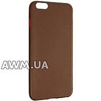Чехол накладка ультра-тонкий для Apple iPhone 6 Plus/6S Plus коричневый
