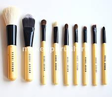 Кисти для макияжа Bobbi Brown 9 штук в чехле (Бобби Браун) | Набор кистей + Чехол в Подарок реплик, фото 3