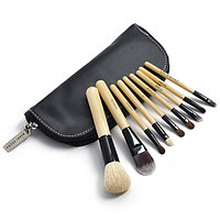 Набор кистей для нанесения макияжа Brown 9 штук в чехле реплика