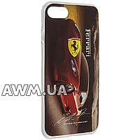 Чехол накладка силиконовая Ferrari  для Apple iPhone 7