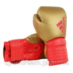 Боксерские перчатки Adidas Hybrid 300 золото-красный