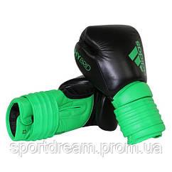 Боксерские перчатки Adidas Hybrid 300 черно-зеленый