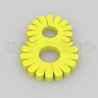 Цифра 8 желтая / 30 см