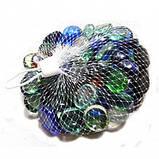 Камни для декора круглые цветные микс малые d 2 см, фото 4