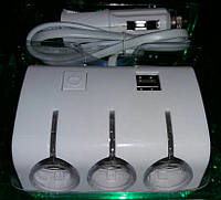 Разветвитель на 3 гнезда + 2 USB входа 12 вольт