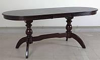 Стол обеденный деревянный Оскар Версаче темный орех (160+40)х90х75