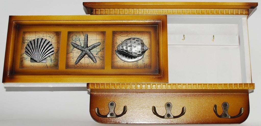 Ключница с выдвижной панелью на 9 крючков