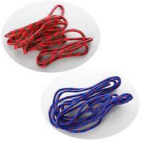 Скакалка (без ручек), 500см, веревка коттон, толщ., 9мм, 2 цвета, в пак. 20*5*5см (50шт)(MS0189)