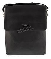 Вместительная черная мужская сумка с качественной кожи PU POLO art. 86686-5 черная, фото 1