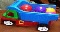 """Машина """"Алексбамс"""" с шариком большим, в сетке 38*25см, ТМ BAMSIC, произ-во Украина (3 шт/уп)(086)"""
