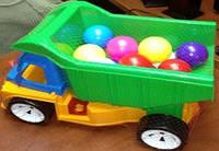 """Машина """"Алексбамс"""" с шариком маленьким, в сетке 38*25см, ТМ BAMSIC, произ-во Украина (3 шт/уп)(087)"""