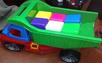 "Машина ""Алексбамс"", с 12 кубиками мал., в сетке 35*25см), ТМ BAMSIC, произ-во Украина (3 шт/уп(088)"
