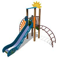"""Игровой комплекс """"Ручеек"""" TЕ701.2(стальная лестница и ограждение с пазлом)"""