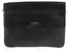 Вместительная черная горизонтальная мужская сумка с качественной PU кожи  POLO art. 86686-6 черная