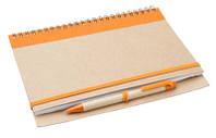 Блокнот эко А5, 60 листов, на резинке с ручкой в комплекте