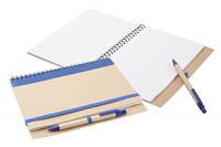 Блокнот эко под лого А5, 60 листов, на резинке с ручкой в комплекте, ассорти, фото 1
