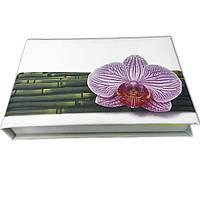 Блокнот MiniNotes со стикерами Post-it, в твердой обложке «Орхидея»