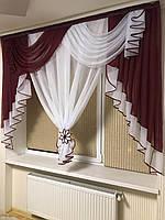 """Занавеска-ламбрекен  """"Амалия""""на маленькое окно .Ширина 2м .Высота 1.6м"""