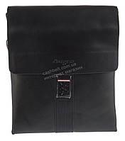 Удобная черная прочная мужская сумка с качественной PU кожи LANGSA art. TP6723-4 черная