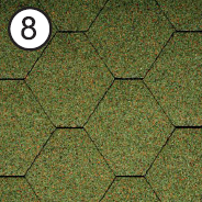 Битумная черепица Roofshield Classic Стандарт Окисленный