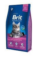 Корм для котов Brit Premium Cat Light 8 кг (для кошек c избыточным весом)