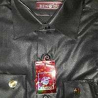 Детская черная рубашка под запонку Bendu (размеры от 30 до 37)