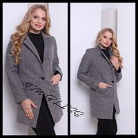 Красивое весеннее пальто женское размер 48+ АШ-002.004