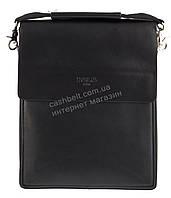 Зручна чорна міцна чоловіча сумка з якісної шкіри PU POLO art. TP88840-3 чорна, фото 1