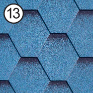 Битумная черепица Roofshield Classic Стандарт Модерн Синий Окисленный, фото 1