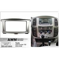 Рамка переходная AWM 781-07-043 Toyota LC 100/ Lexus LS 470 (со штатным дисплеем) 2DIN