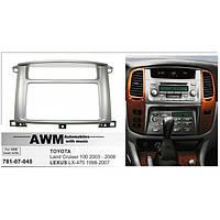 Рамка переходная AWM 781-07-045 Toyota LC100/Lexus LX 470 (под штатную магнитолу Toyota)
