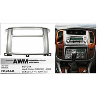 Рамка перехідна AWM 781-07-045 Toyota LC100/Lexus LX 470 (під штатну магнітолу Toyota)