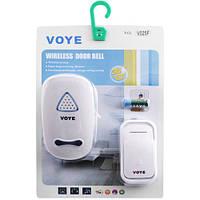 Беспроводной звонок для частного дома VOYE V025F AC: радиус 100 м, питание сеть/батарейка 12В, 2 Вт