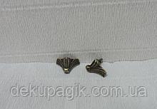 Ножка декоративная-24, бронза, 2,0х2,4см,металл.