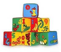 """Набор мякишей-кубиков """"Математика"""", 6 кубиков, в пак. 27*18*9см, произ-во Украина(720033)"""