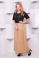 Красивое длинное коричневое  платье Баден   ТМ Таtiana 54-60  размеры