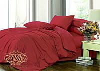 Семейный комплект постельного белья WINE RED (BORDO)